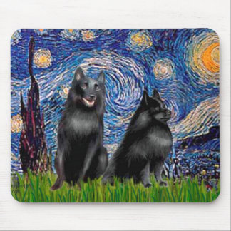 Schipperkees two 5 amp 6 - Starry Night Mouse Pad