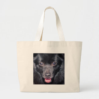 Schipperkes are cutie pies! large tote bag