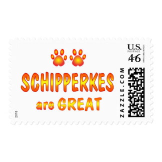 Schipperkes are Great Postage Stamps