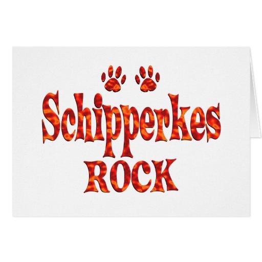 Schipperkes Rock Greeting Cards