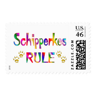 Schipperkes Rule Postage Stamps