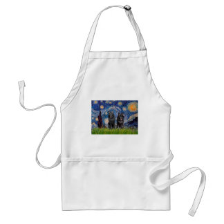 Schipperkes (two) - Starry Night Adult Apron