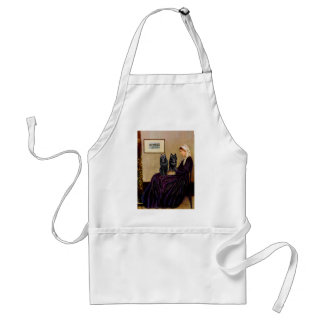 Schipperkes (two) - Whsitlers Mother Adult Apron