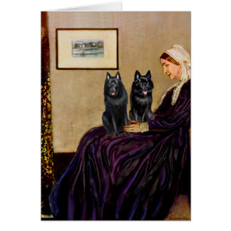 Schipperkes (two) - Whsitlers Mother Greeting Card