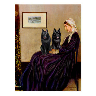 Schipperkes (two) - Whsitlers Mother Postcard