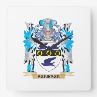 Schirach Coat of Arms - Family Crest Square Wallclocks