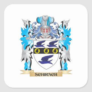 Schirach Coat of Arms - Family Crest Square Stickers