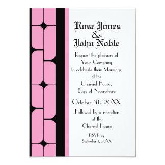 Schizm Ebony (Pink) Wedding Invitation