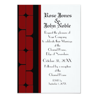 Schizm Ebony (Red) Wedding Invitation