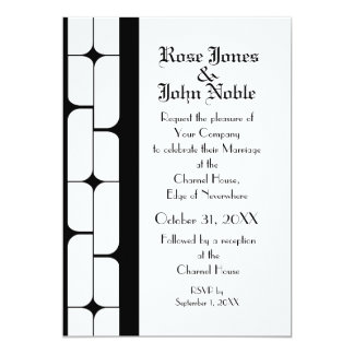 Schizm Ebony (White) Wedding Invitation