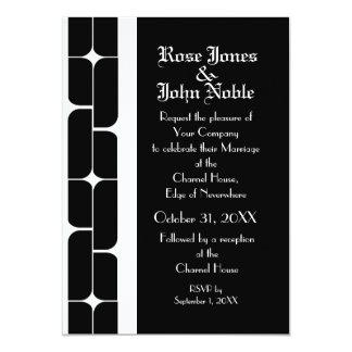 Schizm Ivory (Black) Wedding Invitation