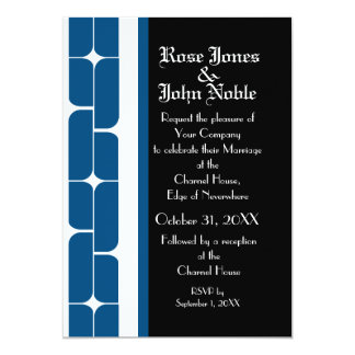 Schizm Ivory (Blue) Wedding Invitation