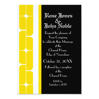 Schizm Ivory (Gold) Wedding Invitation