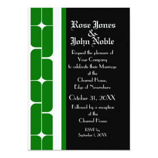 Schizm Ivory (Green) Wedding Invitation