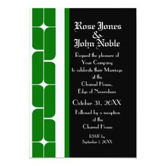 Schizm Ivory (Green) Wedding Invitation