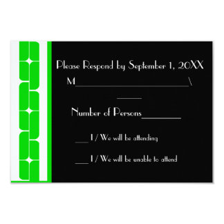 Schizm Ivory (Lime) RSVP Card