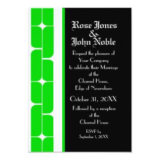 Schizm Ivory (Lime) Wedding Invitation