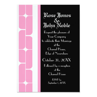 Schizm Ivory (Pink) Wedding Invitation