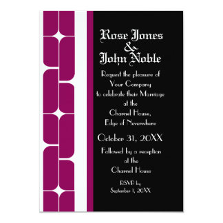 Schizm Ivory (Red-Violet) Wedding Invitation