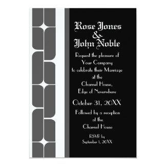 Schizm Ivory (Smoke) Wedding Invitation