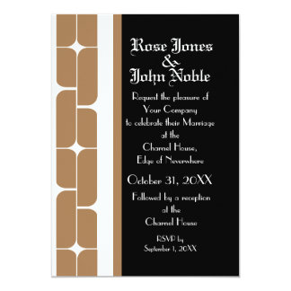 Schizm Ivory (Tan) Wedding Invitation