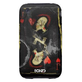 SCHiZO Jack Of Hearts grunge iPhone 3 Tough Cases