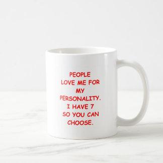 schizo classic white coffee mug
