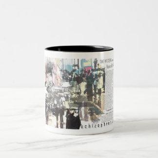 schizophrenia Two-Tone coffee mug