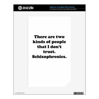 Schizophrenics Decal For NOOK Color