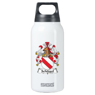 Schlagel Family Crest 10 Oz Insulated SIGG Thermos Water Bottle