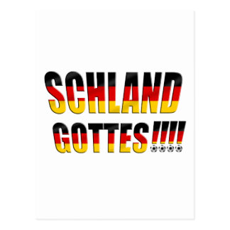 Schland Gottes - Fussball Deutschland Postcard