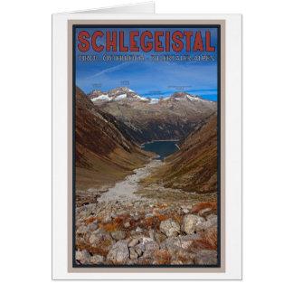 Schlegeistal - View Down the Valley Card