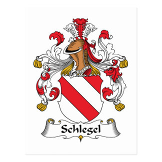 Schlegel Family Crest Postcard