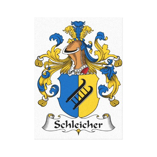 Schleicher Family Crest Stretched Canvas Prints