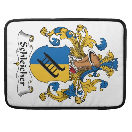 Schleicher Family Crest Sleeves For MacBook Pro
