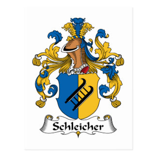 Schleicher Family Crest Postcard