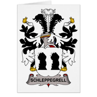 Schleppegrell Family Crest Greeting Card
