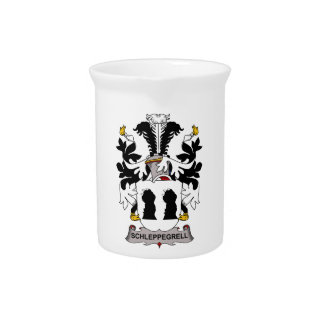 Schleppegrell Family Crest Pitchers