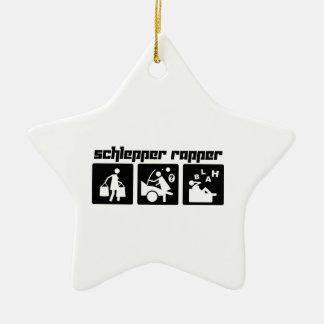 Schlepper Rapper Ceramic Ornament