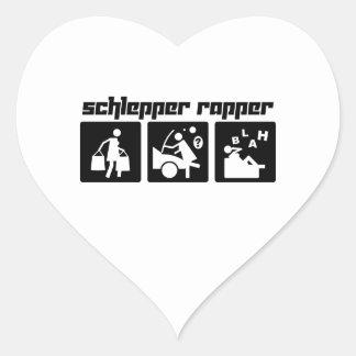 Schlepper Rapper Heart Sticker
