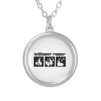 Schlepper Rapper Round Pendant Necklace