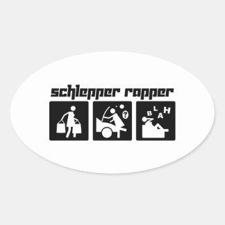 Schlepper Rapper Oval Sticker