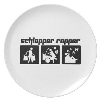 Schlepper Rapper Dinner Plates
