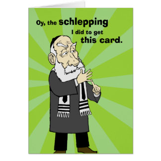 Schlepping Greeting Card