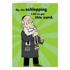 Schlepping Hanukkah Card at Zazzle