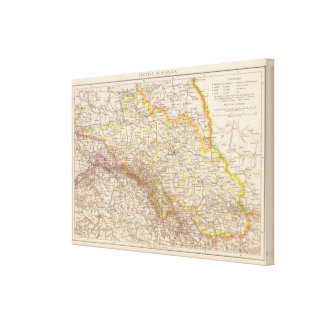 Schlesien Atlas Map Canvas Print