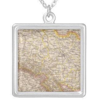 Schlesien Atlas Map Silver Plated Necklace