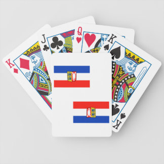 Schleswig-Holstein flag Bicycle Playing Cards