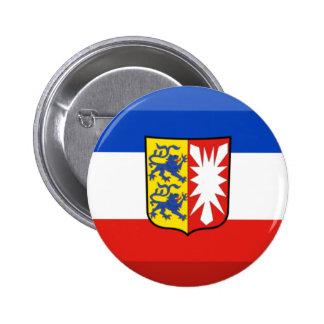 Schleswig-Holstein Flag Gem 2 Inch Round Button