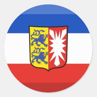 Schleswig-Holstein Flag Gem Classic Round Sticker